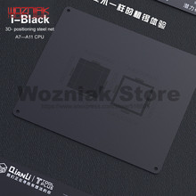 QIANLI 3D di Latta piantare template per IPHONE A7 A8 A9 A10 A11 CPU Carattere livelli superiori e inferiori di Manutenzione della maglia nero rete di acciaio