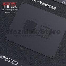Qianli modelo de plantio de estanho 3d para o iphone a7 a8 a9 a10 a11 cpu fonte superior e mais baixo níveis de manutenção malha rede de aço preto