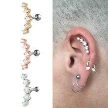G23titan Cool Mannen Piercing Ring Oor Kraakbeen Oorbellen Ringen Crystal Oorstekers Oor Piercing Man Accessoires Mannelijk Lichaam Sieraden
