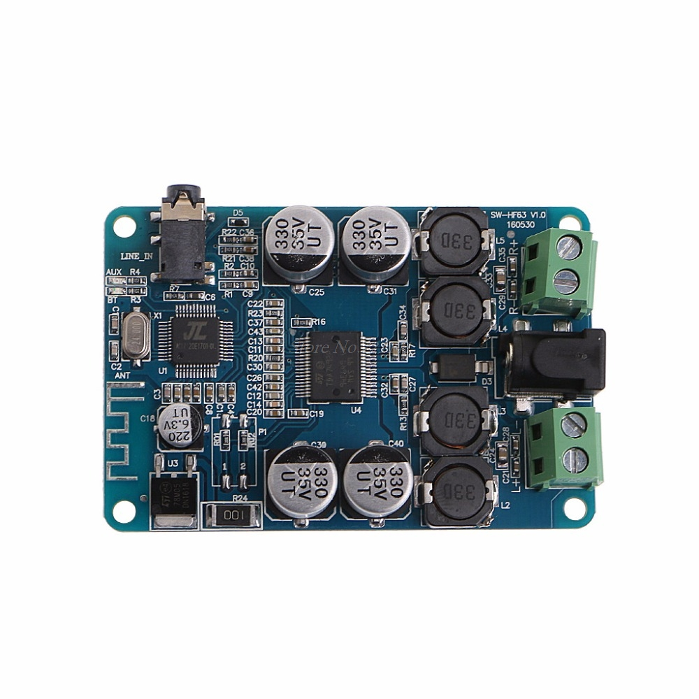 Power Amplifier Board TDA7492P Bluetooth Receiver Audio Board 2x25W Mini Power Amplifier DIY Dual Channel
