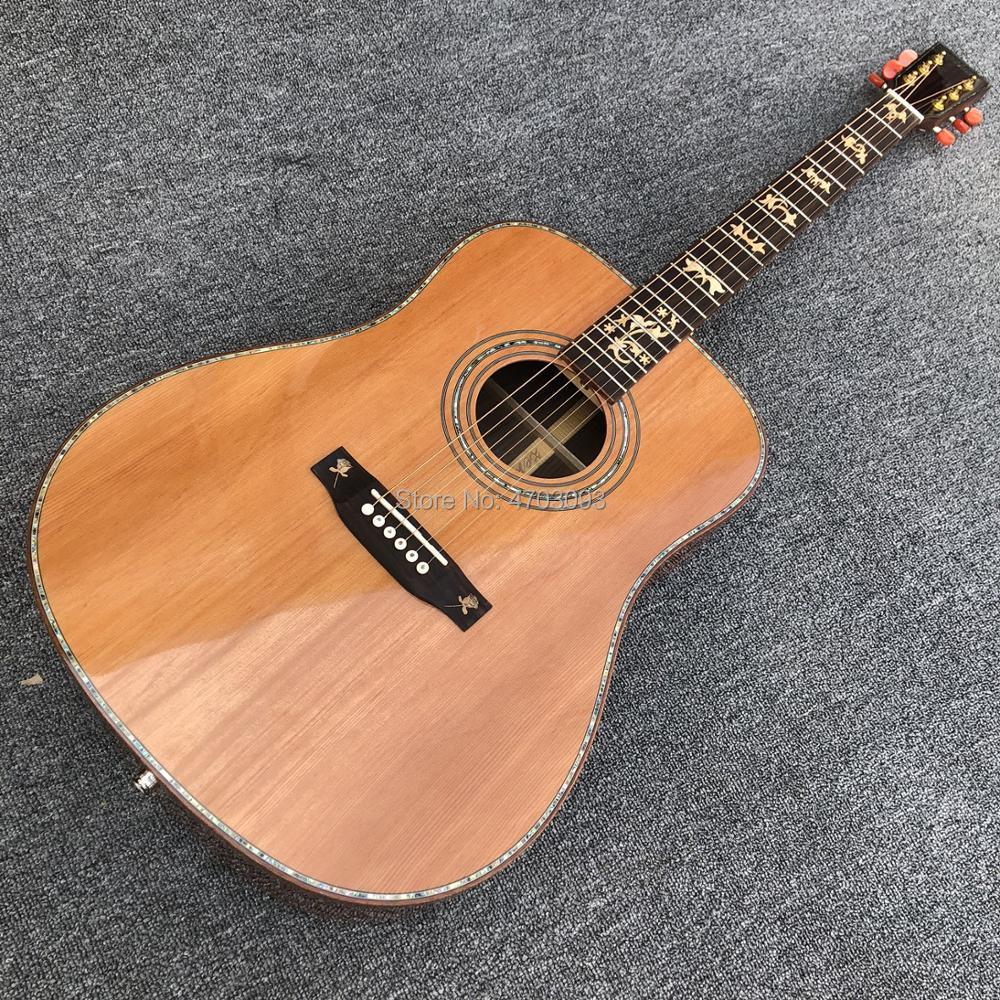 2019 nouveauté guitare acoustique en pin massif coréen, touche en ébène OEM, livraison gratuite