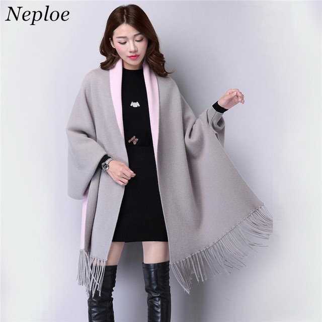 a0b3adff67c7b Neploe Autumn Korean Plus Size Women Long Loose Sweater Cardigan Tassel  Sweater Shawl Coat Fashion Wild