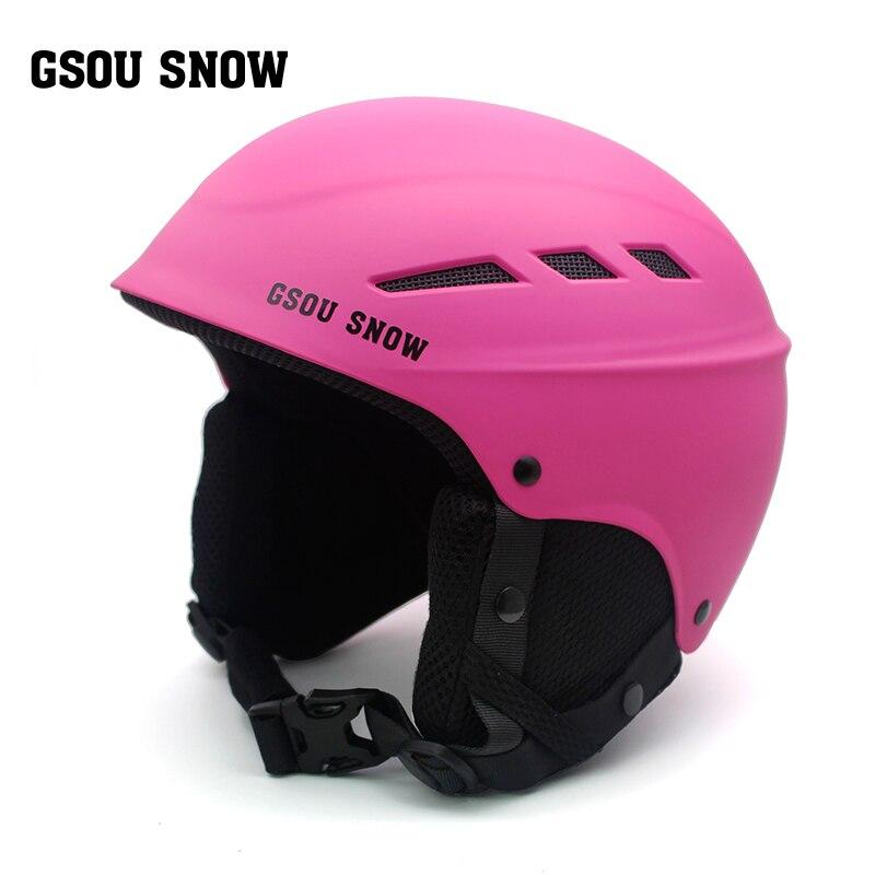 Gsou лыжный шлем PC + EPS Сверхлегкий высокое качество сноуборд шлем Для мужчин Для женщин Дети катание скейтборд Лыжный Спорт Шлем S/ m/L