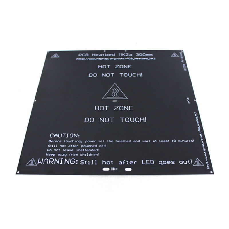 цена на SWMAKER 24V 300x300mm PCB MK2A heated bed for Reprap Prusa i3 3D printer 3mm thick