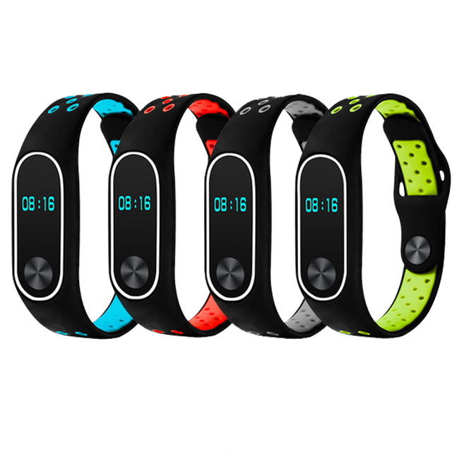 For Xiaomi Mi Band 2 Strap Miband 2 Bracelet Colorful Strap Wristband Replacement Smart wacthAccessories Mi Band 2 Silicone