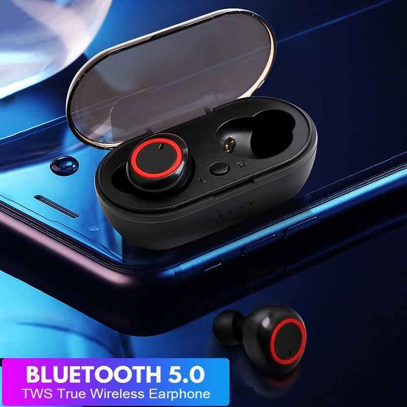 Teamyo TWS Wireless Earbuds Headphone Waterproof Stereo Bluetooth Earphone Headset Sport Gaming Earphone For Samsung Iphone