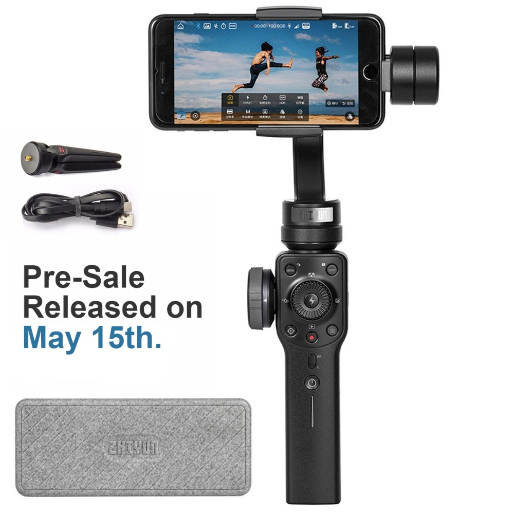 PRE SALE Zhiyun Smooth 4 3 Axis Gimbal Stabilizer for font b Smartphone b font