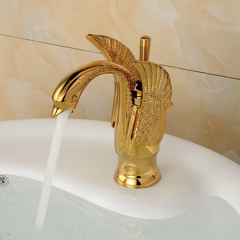 Design Single Hole Bathroom Basin Faucet One Lever Vanity Sink Mixer Tap Gold Polished декор lord vanity quinta mirabilia grigio 20x56