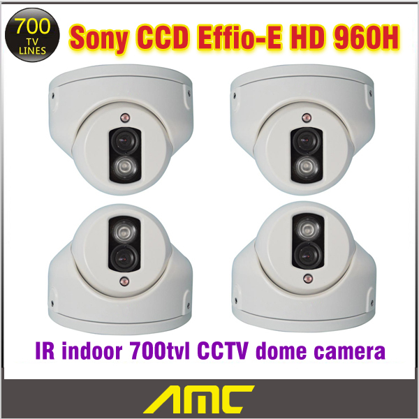 4PCS Sony Effio Ccd 700tvl CCTV Camera IR Array LED IR Indoor Dome CCTV Security Camera Night Vision Home Security Camera