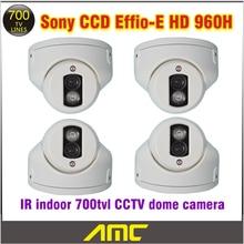 4PCS Sony Effio Ccd 700tvl CCTV Camera IR Array LED IR Indoor Dome CCTV Security Camera Night Vision Home Security Camera