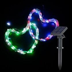Solar Lampen Lichter Für Hochzeit Party Im Freien Weihnachten 100leds 10m Led-lampen Ip65 Art Deco 6v 1 jahr Ni-Mh Urlaub String Haarigen