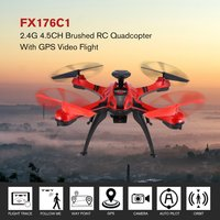FX176C1 2.4G 4.5CH 2.0MP Camera HD Remote Control Helicopter Brushed Quadcopter With GPS Video Flight Trace RC Drone