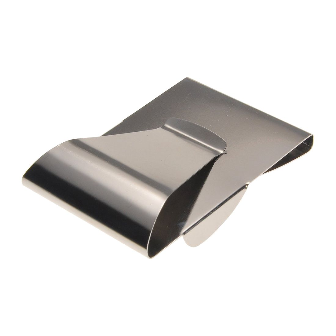 2 Pcs of (VSEN Hot Stainless Steel Double Side Money Cash Credit Bank Card Holder Wallet Grip Clip)
