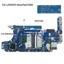 KoCoQin Laptop motherboard Für LENOVO IdearPad E460 Core I7-6500U Mainboard BE460 NM-A551 00UP260 SR2EZ CPU 216-0864018(China)
