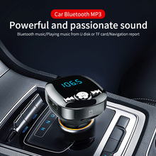 CDEN FM transmitter Bluetooth 5.0 car mp3 player charger U disk / TF card music kit call voltage monitoring