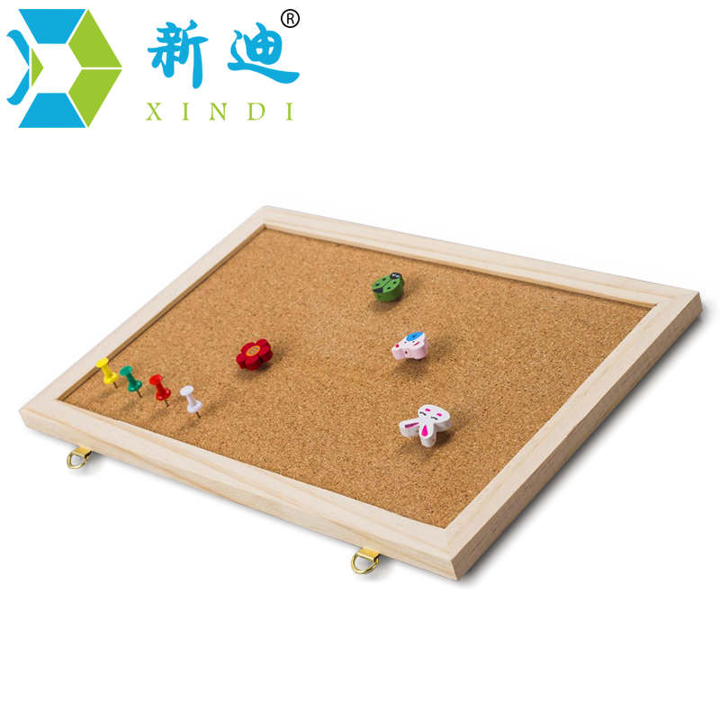 XINDI 2018 20*30cm New Bulletin Message Board Pine Wood Frame Cork Boards Be Hanging For School Home Nail Style With Push Pins
