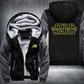 EUA tamanho Star Wars Cosplay Casaco Jaqueta de Inverno Com Capuz Zipper Fleece Unisex Engrossar Camisolas