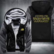 USA size Star Wars Cosplay Coat Zipper Hoodie Winter Fleece Unisex Thicken Jacket Sweatshirts