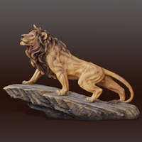 Lion Forest Statue Crafts for Living Room / Office / Bedroom / Tabletop / Desktop / Home Decoration