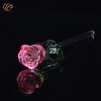 Rosa Kristall Rose Hochzeit Gefälligkeiten und Geschenken Weihnachtsgeschenke Handmake Frühling Blumen Dekorative Blumen & Kränze mit Geschenkkasten