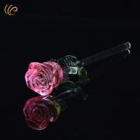 Roze Kristal Rose Bruiloft Gunsten en Geschenken Kerstcadeaus Handmake Lente Bloemen Decoratieve Bloemen & Kransen met Geschenken Doos