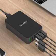 ORICO QSE-5U QC2.0 5 Port Desktop USB Charger for Smartphones and Tablets with EU Plug-Black