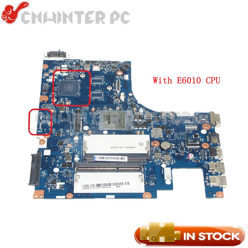 NOKOTION NEW ACLU5 ACLU6 NM-A281 Main board For Lenovo ideapad G50-45 Laptop Motherboard 15 Inch E1-6010 CPU DDR3 working perfectly for lenovo g50 45 nm a281 laptop motherboard with amd a6 6310