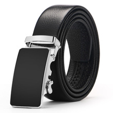 2018 Newest Arrival Cow Genuine Leather Luxury Belts For Men Good Automatic Alloy Buckle Belts Ceinture Homme Original Brand
