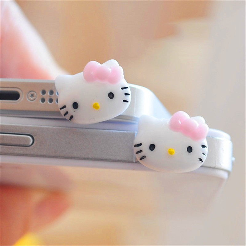 3.5mm Cute Cartoon Bear Design Mobile Phone Ear Cap Dust Plug For Iphone Andriod And All Of 3.5mm Headphone Hole Handsome Appearance Dust Plug