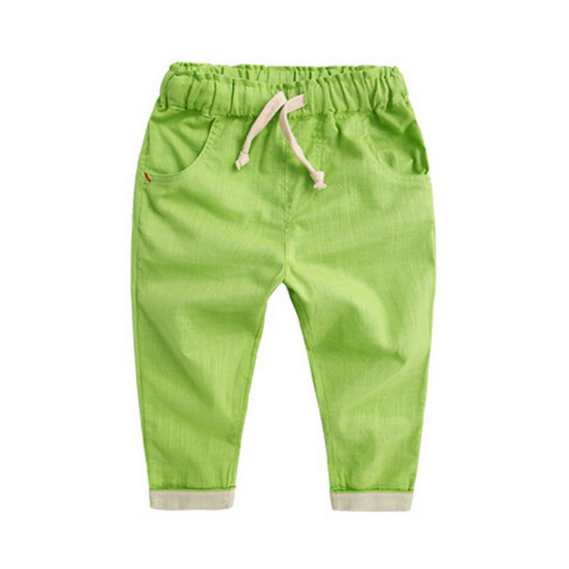 Spring Boy Candy Color Long Trousers Kids Harem   Pants   Children Lovely Toddler Boys   Capris