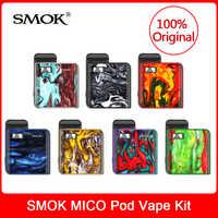 Original smok mico kit com construído em 700 mah bateria + malha/regular cartucho bobina e-cigarro mico pod vaporizador vs novo vape caneta