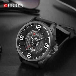 Image 5 - CURREN Relojes para Hombre, reloj de pulsera de cuero, analógico, militar, de cuarzo, resistente al agua, masculino