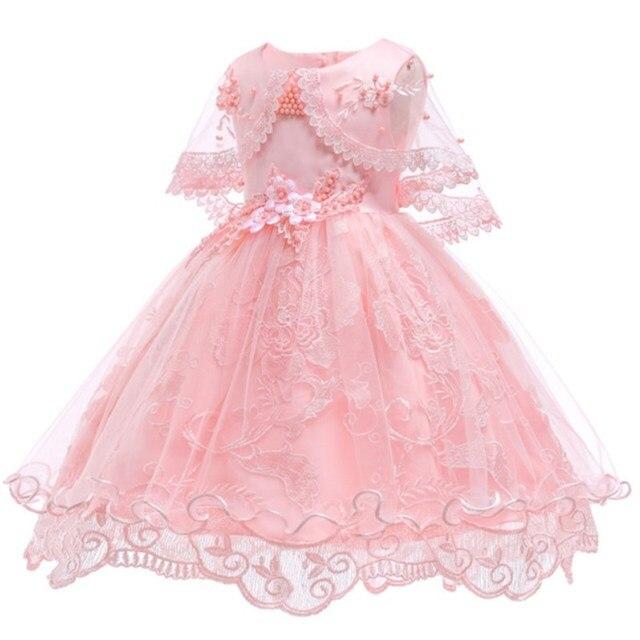 f9dfd9cb9679b Robes de fille de fleur pour la fête de mariage bébé filles 1st ans tenue d