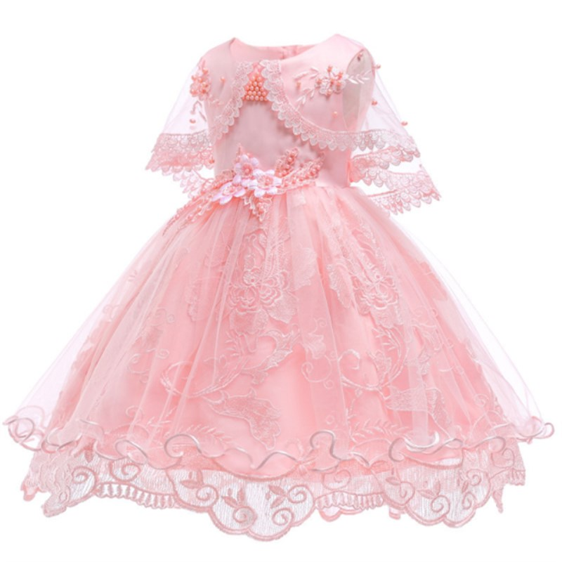 c0af9d6be Vestidos de niña de las flores para fiesta boda bebés 1 er año traje de  cumpleaños algodón Linging niños niñas vestidos de primera comunión