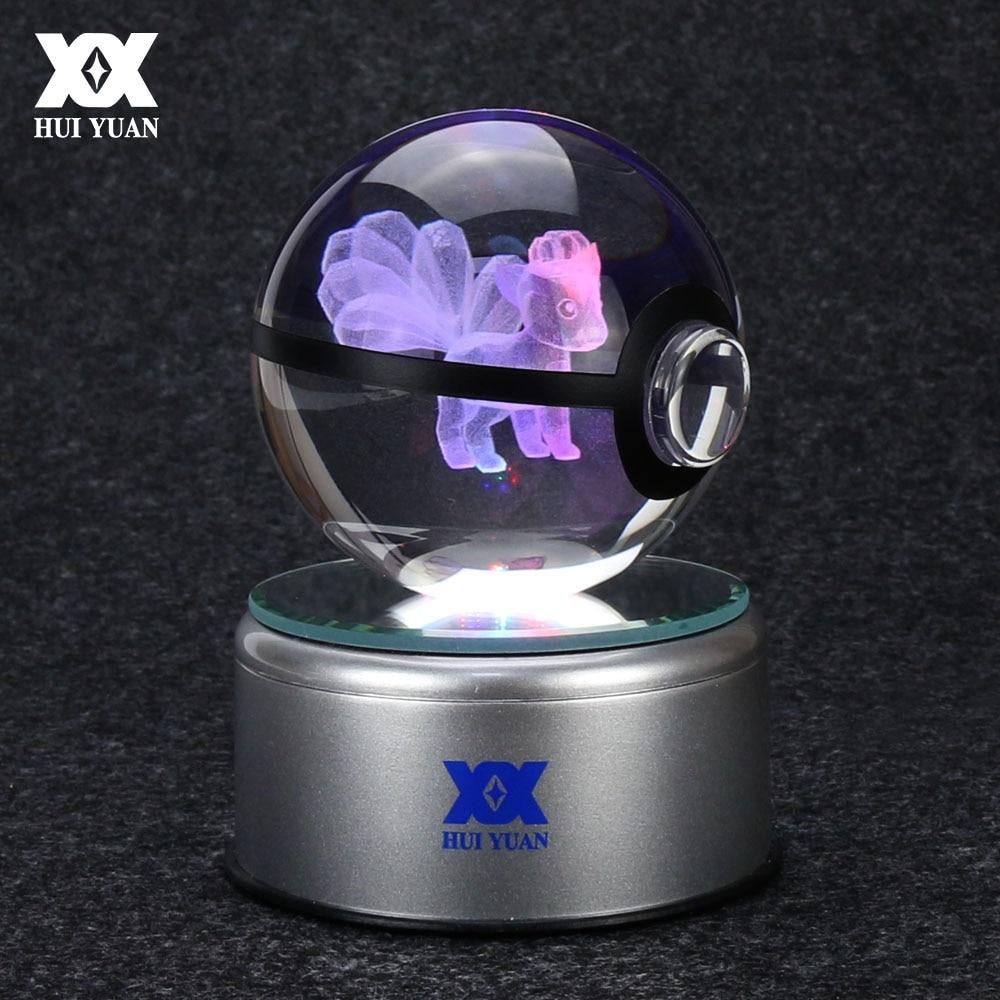 Pokemon Go Ninetales 3D Boule De Cristal Lampe Bureau Décoration En - Veilleuses - Photo 1