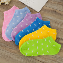 Free shipping women cotton socks 10 Candy Colored Female Casual Sock heart Love shape Cute Socks Ladies cheap good quality S80