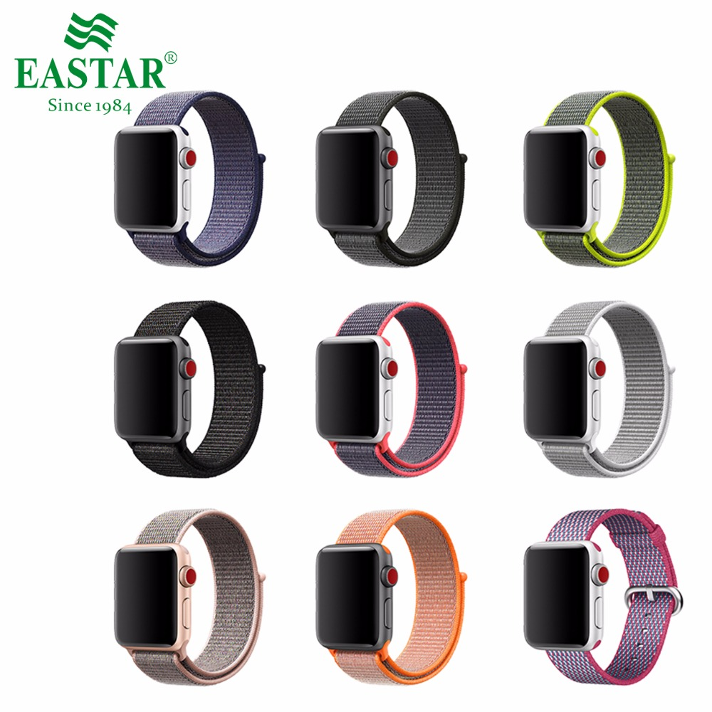 Eastar Series 3/2/1 Woven Nylon Sports Strap for Apple Watch 42 mm 38 mm Replacement Bracelet Wrist Band For iwatch Band survival nylon bracelet brown
