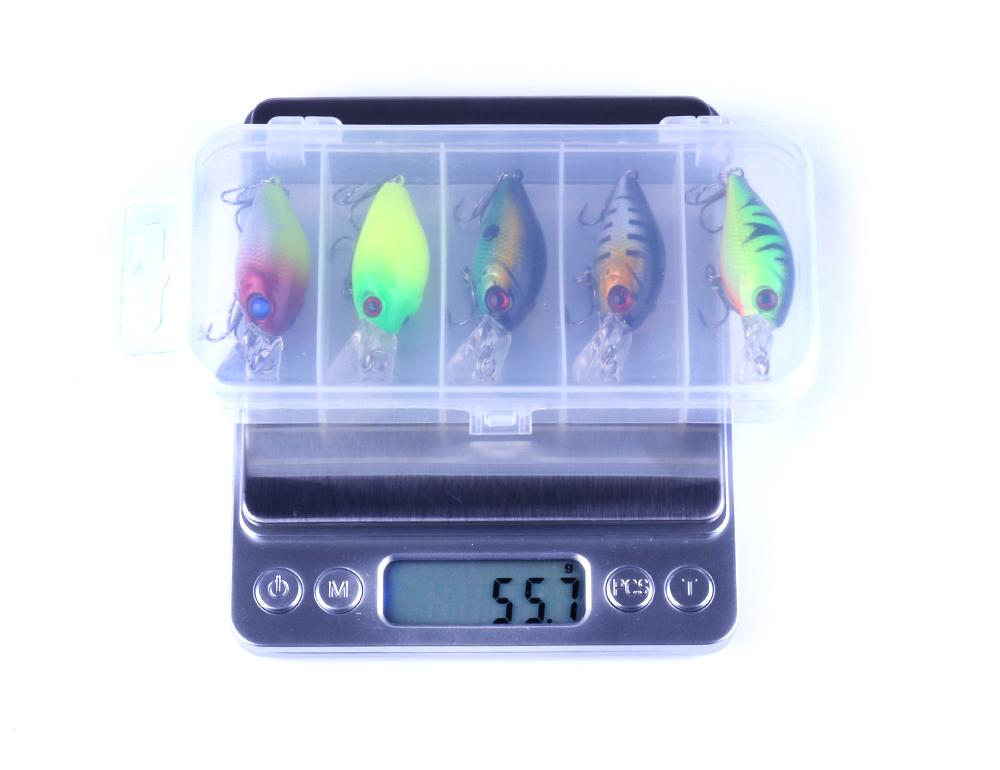 hengjia 5 шт. 4.2 г рыбалка приманки комплект гольян плавающий воблер иска крэнкбейт приманки рыбалка джиг рыбалка крючок набор с рыбалка снасти коробка