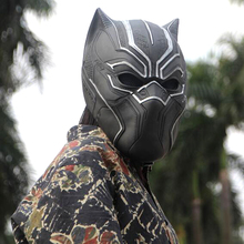 Black Panther Masks Movie Fantastic Four Cosplay Men's Latex Party Toy For Halloween Party цена 2017