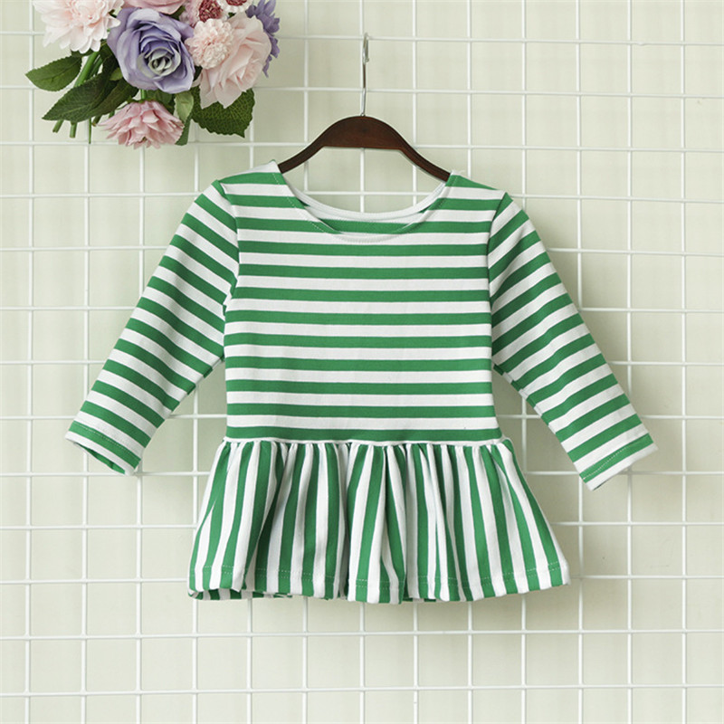 c295f4f2529 Autumn Winter New Cotton Kids Girls T-shirt Long Sleeve Black Red Green  Stripe Casual. US  8.09. 2 orders. Autumn Boutique Infant Toddler Clothes  ...