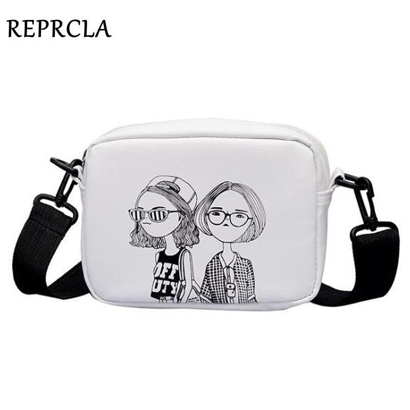 REPRCLA 2020 Casual Sweet Shoulder Bag Color Printing Crossbody Bags Small Flap Women Messenger Bag Designer Female Handbag|Shoulder Bags| - AliExpress