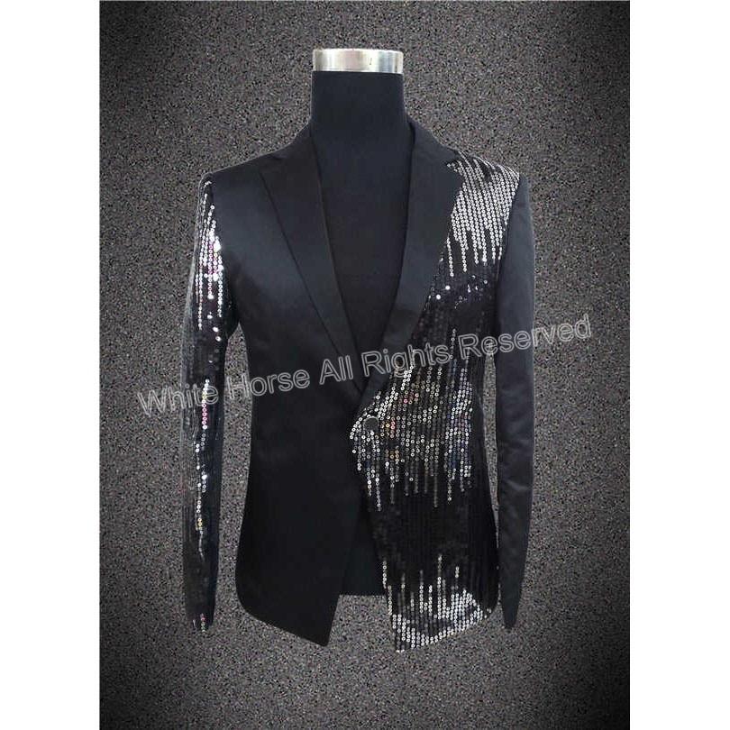 남성 장식 조각 재킷 남자 댄스 파티 정장 장식 조각 무대 재킷 남성 턱시도 성능 가수 재킷 슬림핏 블레이저 Masculino