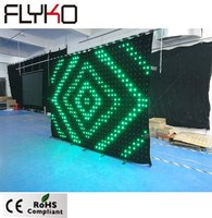 P8cm 2X3m factory wholesale price video curtain led color changing curtain light