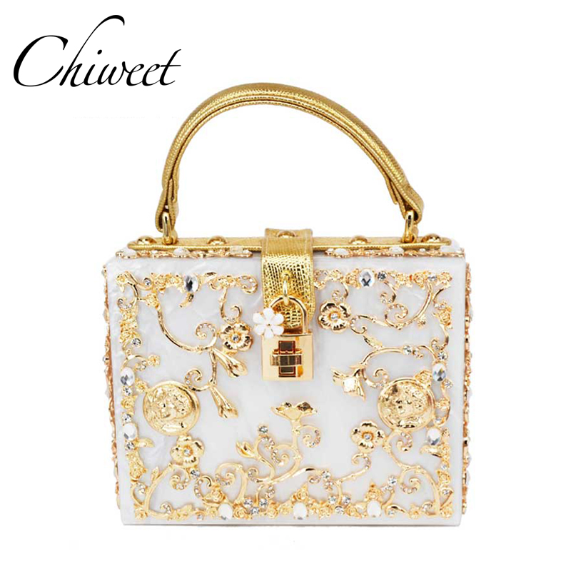 Luxury Handbag Evening Bag Diamond Flower Hollow Clutch Designer Bag Box Relief Acrylic Banquet Party Purse Women Shoulder Bags herobiker motorcycle riding armor jacket knee pads motocross off road enduro atv racing body protective gear protectors set