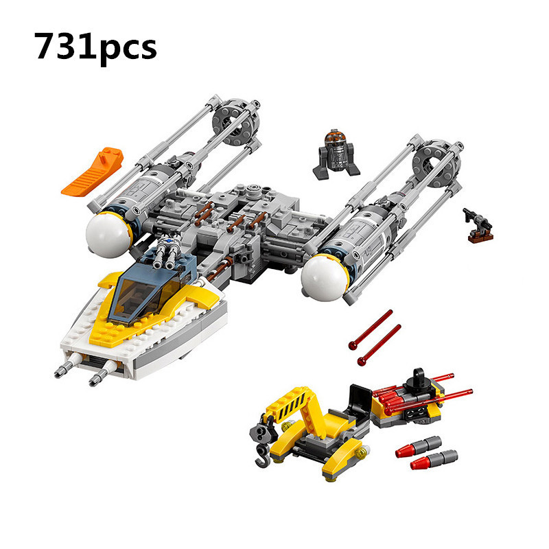 Lepin 05065 731Pcs Genuine Star War Series The Y Wing Starfighter Set Building Blocks Bricks Educational Toys Gift 75172 alien