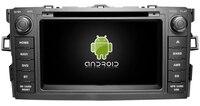 Android 8.1 quad core car dvd player media stereo radio wifi carplay GPS DVR headunit for TOYOTA AURIS 2007 with orange light
