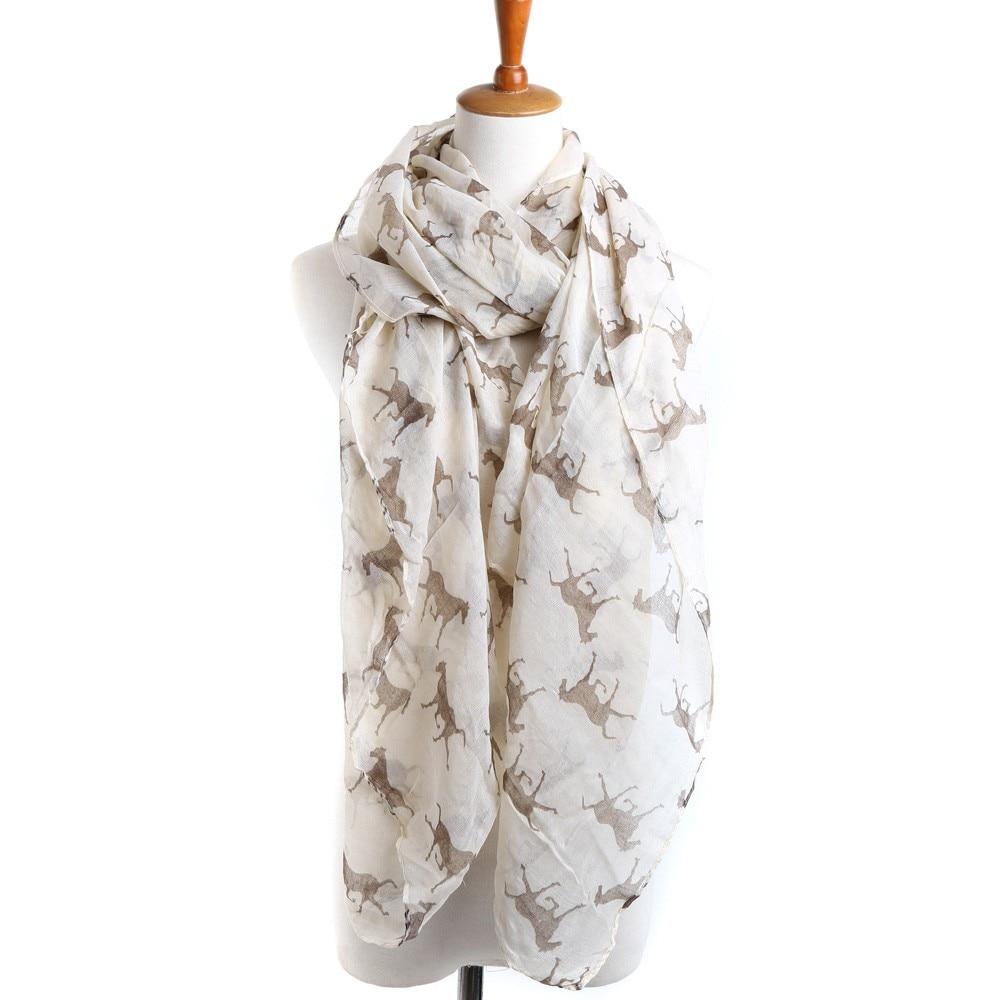 Gift Fashion Running Horse Women Ladies Print Animal Shawl Scarf Wrap Stole