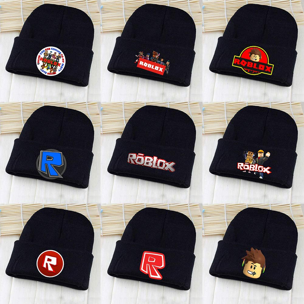 OHCOMICS Unisex Game Roblox Figure Pointy Hat Knitted Hat Cap Hip-Hop Beanies Solid Casual Caps Costume Accessory Gift