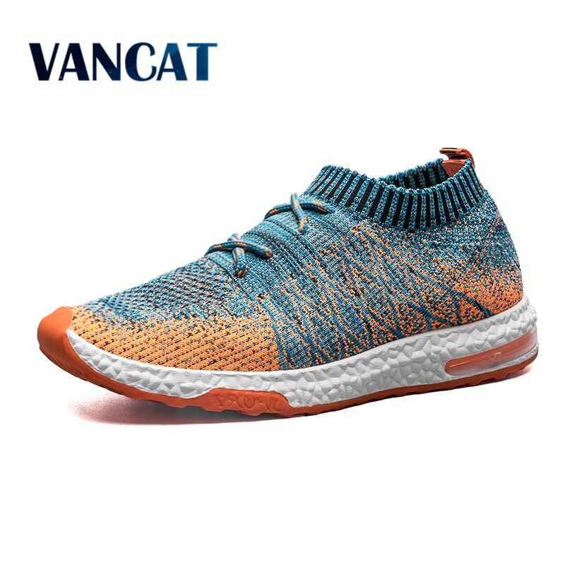 VANCAT 2018 Summer Spring Men Casual Shoes Breathable Mesh Slip-On Fashion Men shoes Footwear Walking Unisex Couples Sneakers fun desk