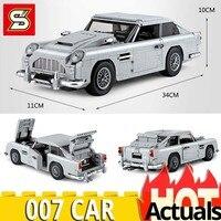 SY 1171 Technic 21046 Aston 007 Car Model legoingly 10262 Set Building Blocks Bricks Educational Toys for Children birthday Gift